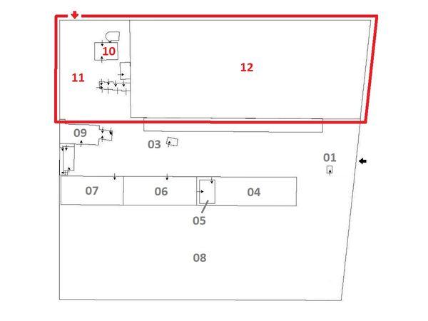 Immagine n2 - Planimetria - Abitazione e terreno - Asta 7015