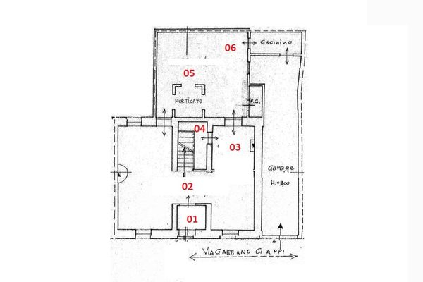Immagine n0 - Planimetry - Ground floor - Asta 7018