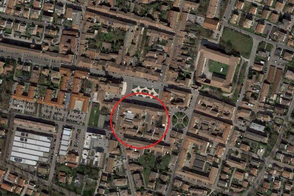 Immagine n0 - Planimetria - Vista aerea - Asta 7060