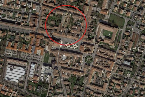 Immagine n1 - Planimetria - Vista aerea - Asta 7063
