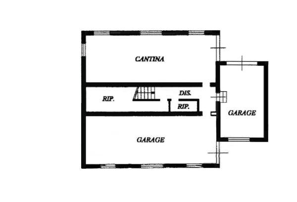 Immagine n1 - Planimetria - Piano sottostrada - Asta 708