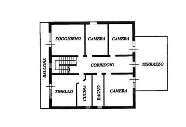 Immagine n3 - Planimetria - Piano primo - Asta 708