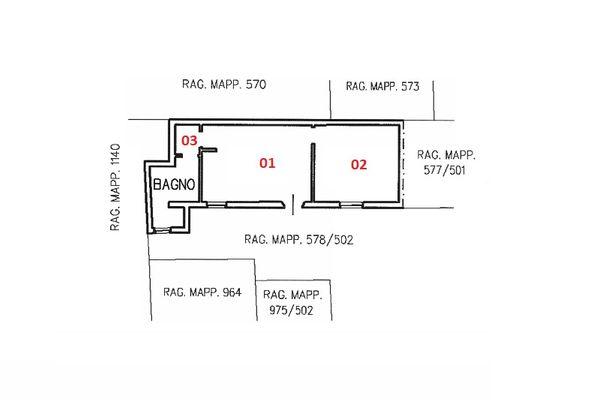 Immagine n0 - Planimetry - Ground floor - Asta 7095