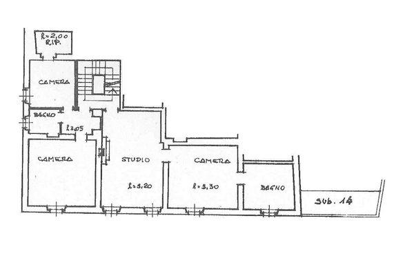 Immagine n2 - Planimetria - Piano primo - Asta 7137