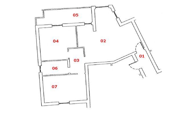 Immagine n1 - Planimetria - Piano secondo - Asta 7169