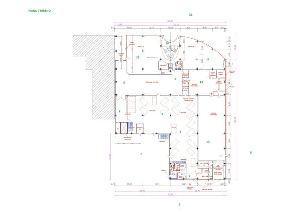 Immagine n1 - Planimetria - Piano terra - Asta 7348