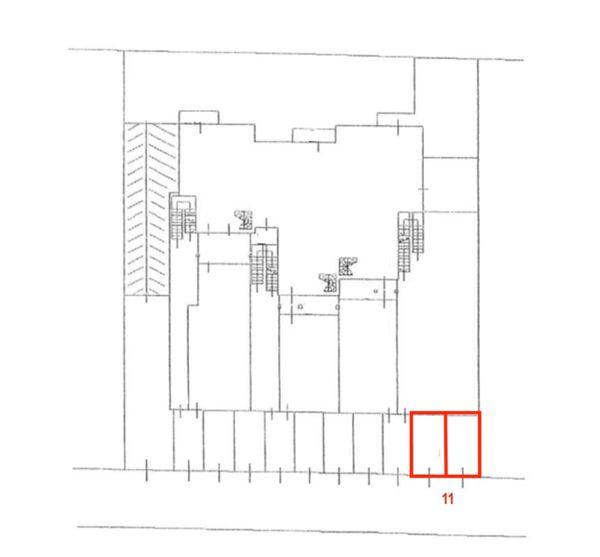 Immagine n3 - Planimetria - Posti auto - Asta 7392