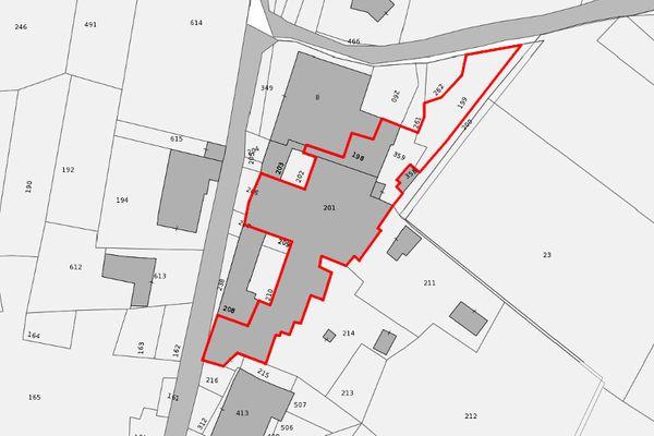 Immagine n1 - Planimetria - Etratto di mappa - Asta 7443