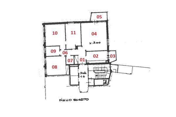 Immagine n1 - Planimetria - Piano quarto - Asta 7520