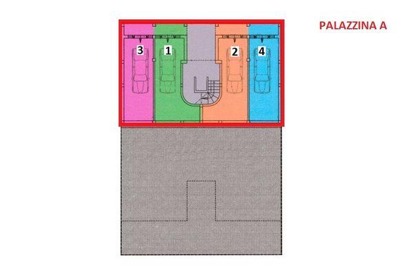 Immagine n0 - Planimetria - Piano sottostrada 2 - Asta 7540