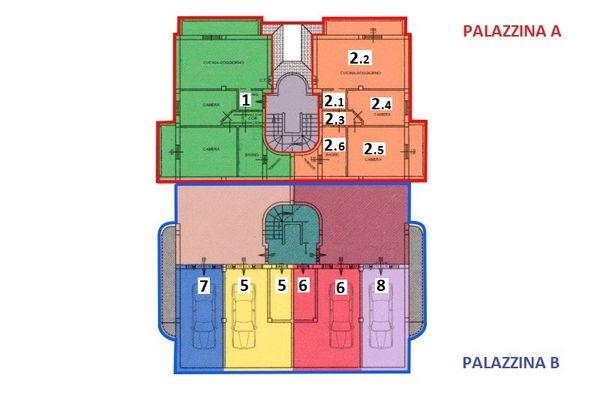 Immagine n1 - Planimetria - Piano sottostrada 1 - Asta 7540