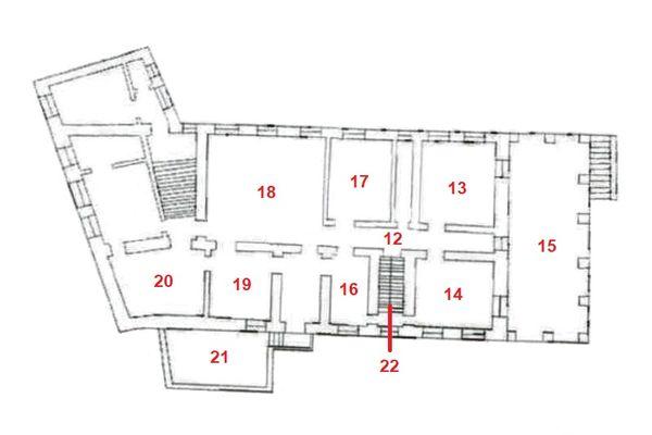 Immagine n2 - Planimetria - Piano secondo - Asta 7544
