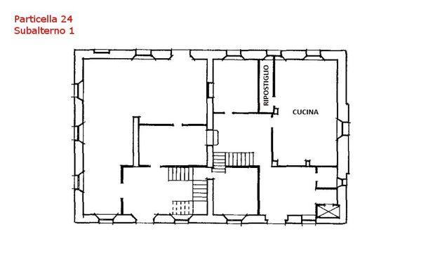 Immagine n1 - Planimetria - Piano terra - Villa - Asta 7559