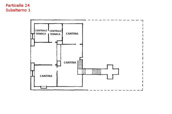 Immagine n4 - Planimetria - Piano sotterraneo - Asta 7559