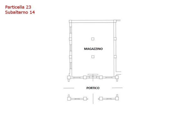 Immagine n0 - Planimetria - Piano terra - Sub 14 - Asta 7559