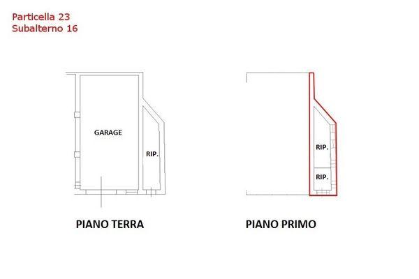 Immagine n0 - Planimetria - Piano terra e primo - Sub 16 - Asta 7559