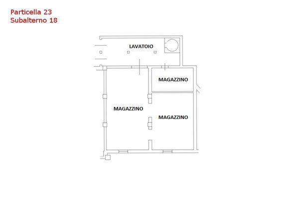 Immagine n0 - Planimetria - Piano primo - Sub 18 - Asta 7559