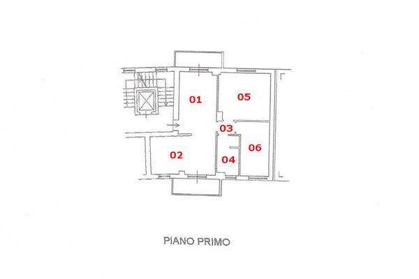 Immagine n1 - Planimetria - Piano primo - Asta 7573