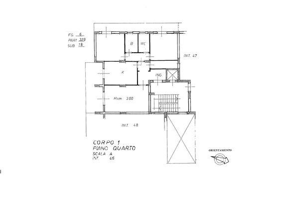 Immagine n1 - Planimetry - Fourth floor - Asta 7592
