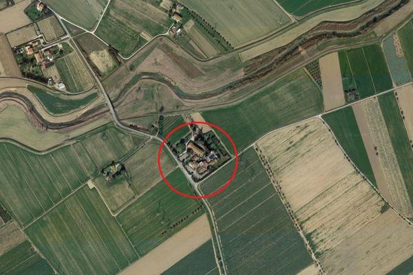 Immagine n0 - Planimetria - Vista aerea - Asta 7676