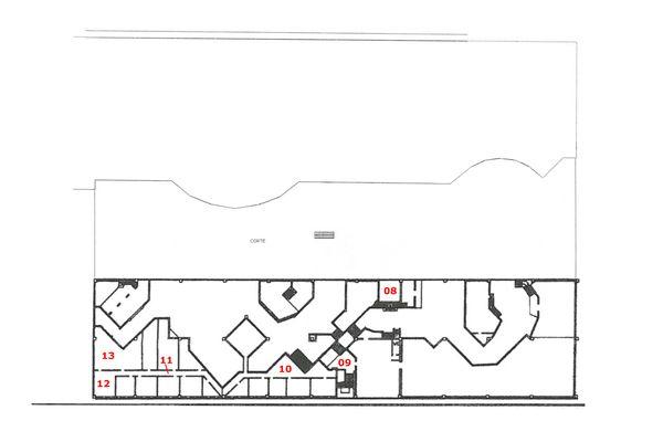 Immagine n2 - Planimetria - Piano ammezzato interrato - Asta 7875