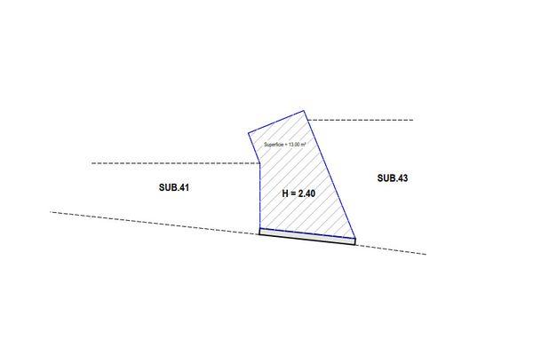 Immagine n1 - Planimetria - Piano interrato - Asta 7900