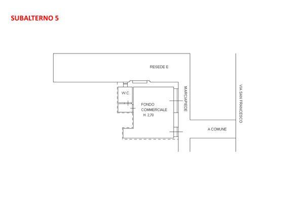 Immagine n1 - Planimetria - Piano terra - Asta 7917
