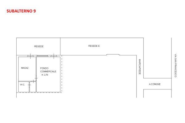 Immagine n2 - Planimetria - Piano terra - Asta 7921