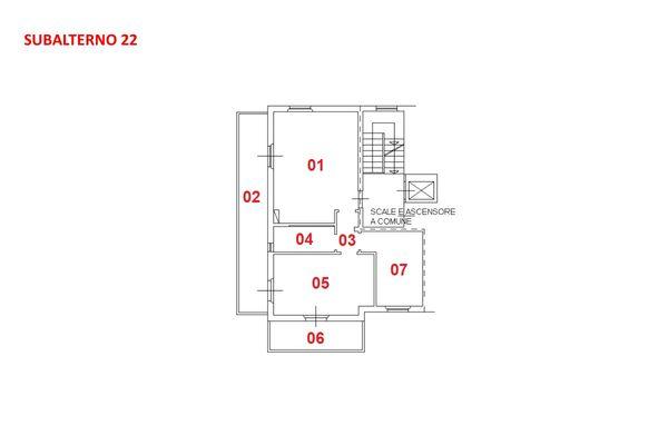 Immagine n1 - Planimetria - Piano terzo - Asta 7926