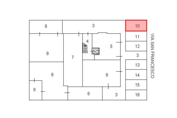 Immagine n2 - Planimetria - Posto auto - Asta 7926