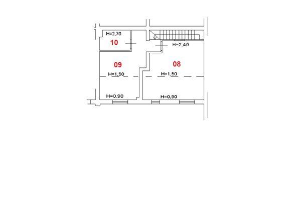 Immagine n1 - Planimetria - Piano sottotetto - Asta 7932