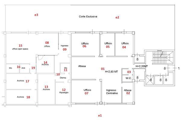 Immagine n0 - Planimetry - Ground floor - Asta 7964