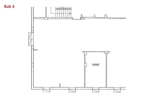 Immagine n0 - Planimetria - Piano interrato - garage - Asta 7968