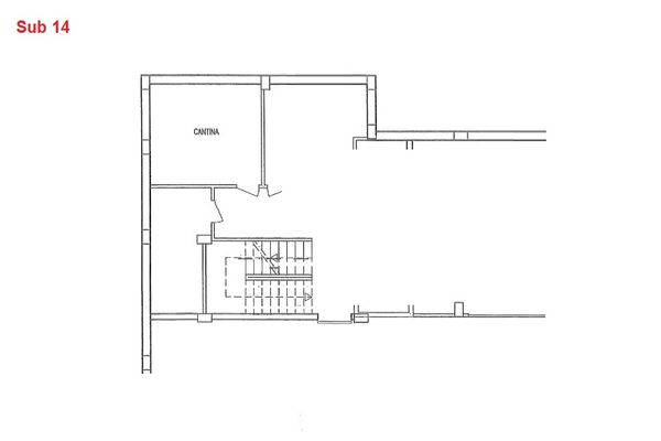 Immagine n0 - Planimetria - Piano interrato - cantina - Asta 7968