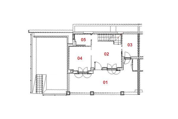 Immagine n1 - Planimetria - Piano terra - Asta 8006
