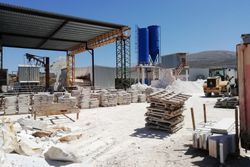 Factory for marble processing