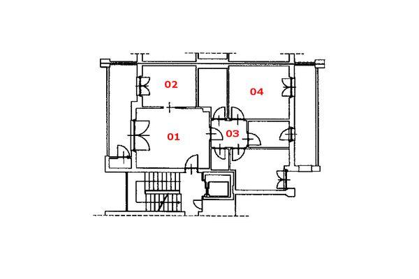Immagine n2 - Planimetria - Piano quarto - Asta 8136