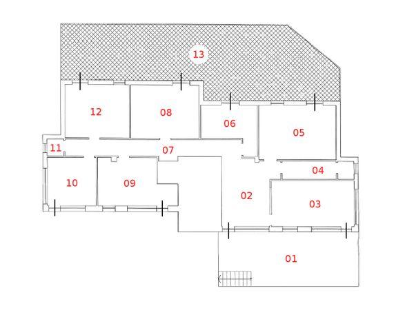 Immagine n12 - Planimetria - Piano terra - Asta 814