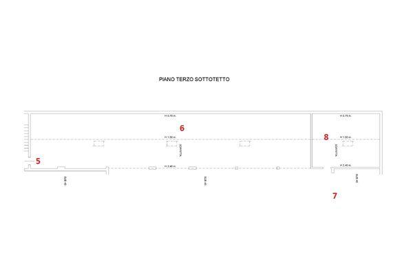 Immagine n3 - Planimetry - Third floor - Asta 8220