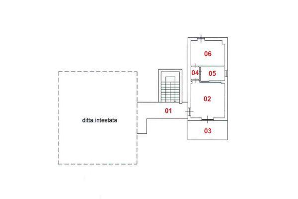 Immagine n1 - Planimetry - First floor - Asta 8305