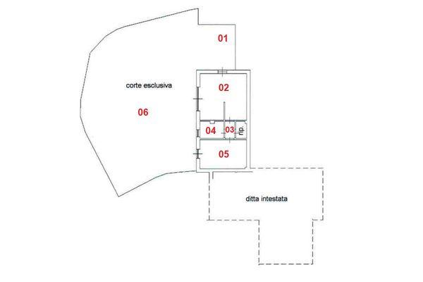 Immagine n1 - Planimetria - Piano terra - Asta 8316