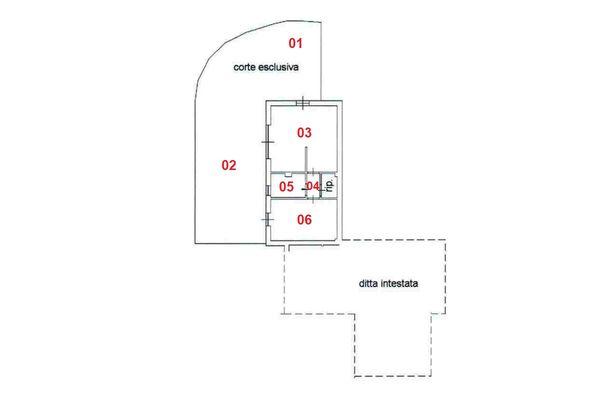 Immagine n1 - Planimetria - Piano terra - Asta 8320