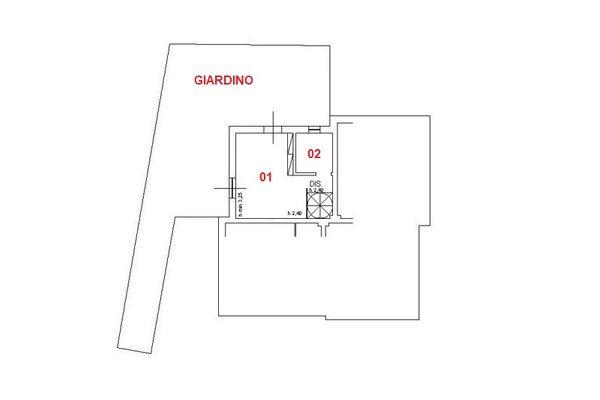 Immagine n1 - Planimetria - Piano terra - Asta 8620