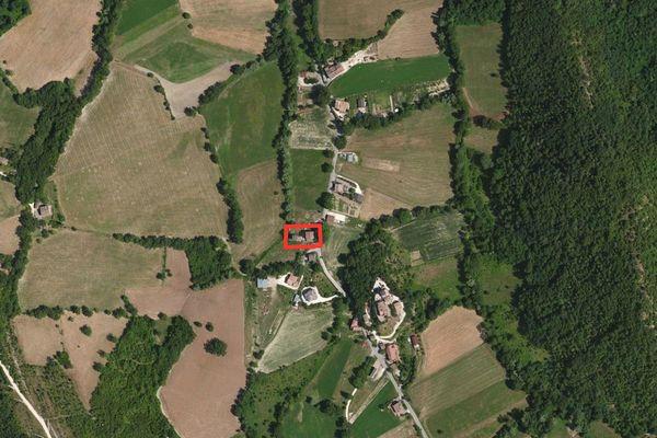 Immagine n1 - Planimetria - Vista aerea - Asta 866