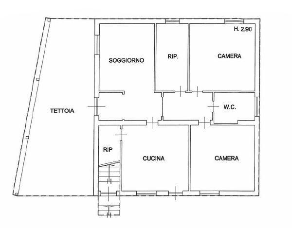 Immagine n0 - Planimetria - Piano terra - Asta 866