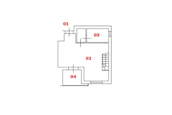 Immagine n1 - Planimetria - Piano primo - Asta 8687