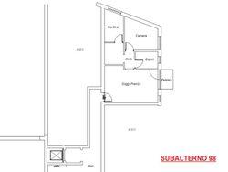 Appartamento al piano primo con garage (sub 98)