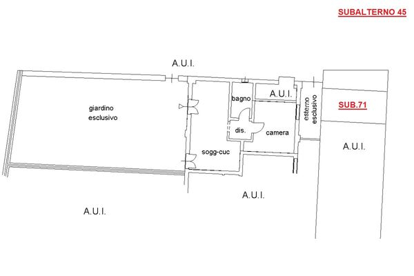 Immagine n0 - Planimetria - Piano terra - Asta 8745