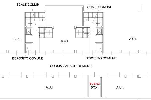 Immagine n0 - Planimetria - Piano primo interrato - Asta 8747