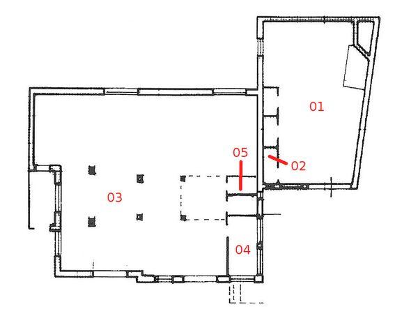 Immagine n4 - Planimetria - Piano seminterrato - Asta 878